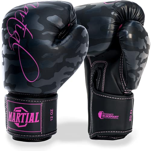 Martial Frauen Boxhandschuhe aus bestem Material für Lange Haltbarkeit. Damen Kickboxhandschuhe für...