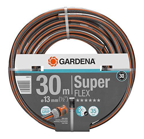 Gardena Premium SuperFLEX Schlauch 13mm (1/2 Zoll), 30 m: Gartenschlauch mit Power-Grip-Profil, 35 bar...