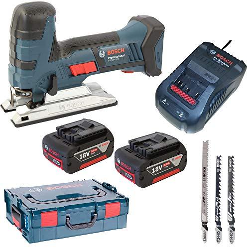 Bosch Professional 06015A5104 GST 18 V-LI S System Akku-Stichsge, Schwarz, Blau, 42922