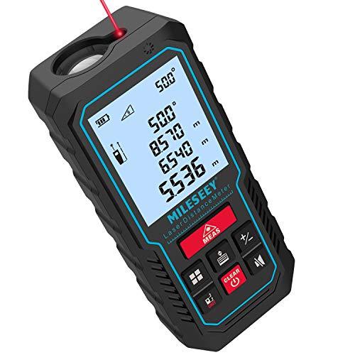 70M Laser Entfernungsmesser, MiLESEEY Lasermessgerät mit Verbessertem Elektronischer Winkelsensor, ±2mm...