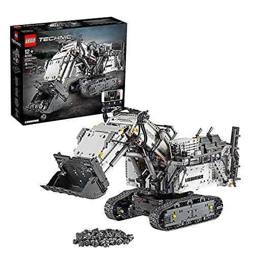 LEGO 42100 Technic Control+ Liebherr Bagger R9800, Ferngesteuerter Bagger, RC Fahrzeug, Spielzeug für Kinder...