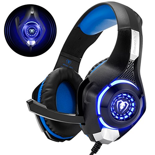 Gaming Headset für PS4 PS5 PC Xbox One, LED Licht Crystal Clarity Sound Professional Kopfhörer mit Mikrofon...