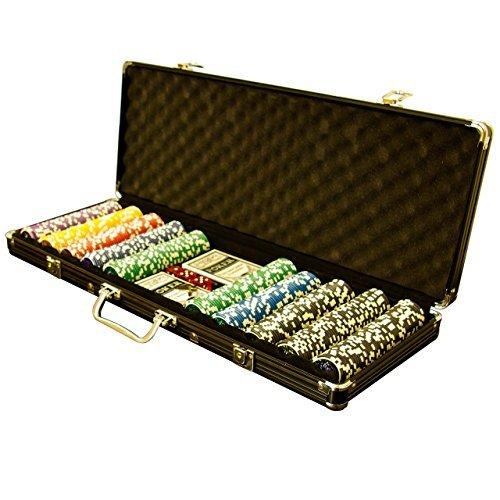 Pokerkoffer Black Edition mit 500 abgerundeten Ocean Champion Chips hochwertige Metallkern Jetons 12 g...
