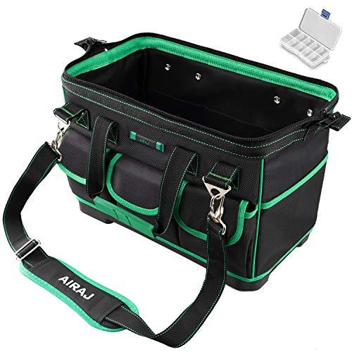 AIRAJ 16 Multifunktionale Werkzeugtasche,breite Oberseite,tragbare Aufbewahrungstasche mit wasserdichter...