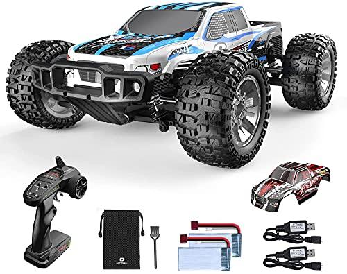 Ferngesteuertes Auto, DEERC 1:10 Offroad-Car 4WD 48 km/h Geländewagen-Spielzeug mit 2 Shell, 2 Akkus für 40...
