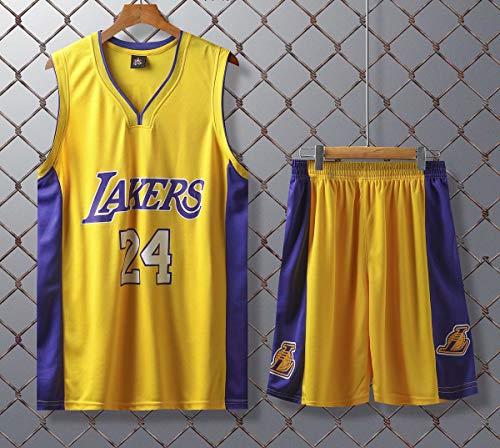 JX-PEP Basketball Uniformen Lakers # 24 Retro Basketball Sommer Trikots Fan Shirt Weste Sleeveless Sportswear...