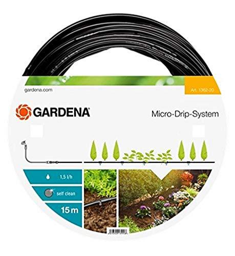 Gardena Micro-Drip-System Tropfrohr oberirdisch 4.6 mm (3/16 Zoll): Tropfschlauch zum oberirdischen Verlegen,...