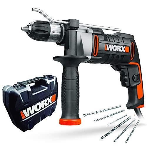 WORX WX318 Schlagbohrmaschine 810W mit robustem Metall-Getriebegehäuse, stufenloser Drehzahlregulierung,...