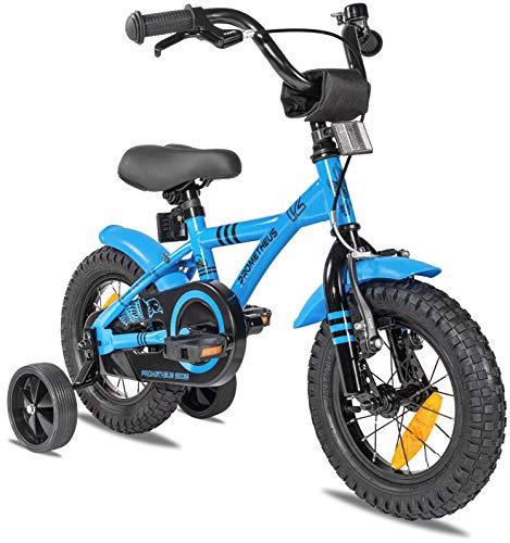 Prometheus Kinderfahrrad 12 Zoll Jungen mit Stützräder ab 3 Jahre Mädchen Rücktritt 12zoll BMX Modell 2021...