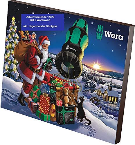 WERA Adventskalender 2020 Werkzeug WE1 -WERT 140€- Männer Heimwerker Werkzeugkalender, Vera Advent Kalender...