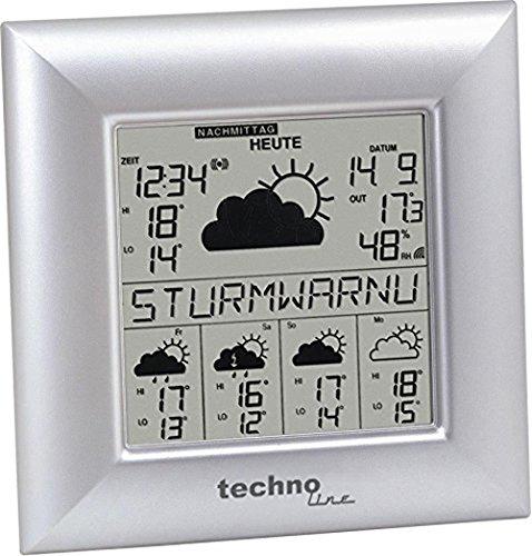 Technoline WD 9000 Wetterdirekt - Wetterstation mit Sturmwarnung,  Innen- und Außentemperautanzeige,...