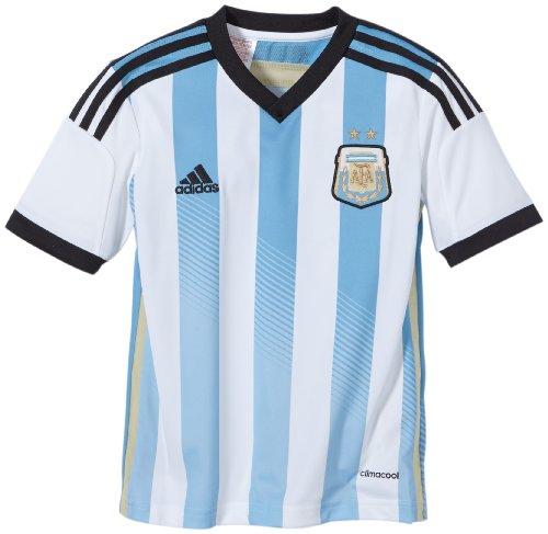 adidas Jungen Kurzärmliges Trikot AFA Argentinien Home Jersey, White/Columbia Blue/Argentina Blue/Black, 176