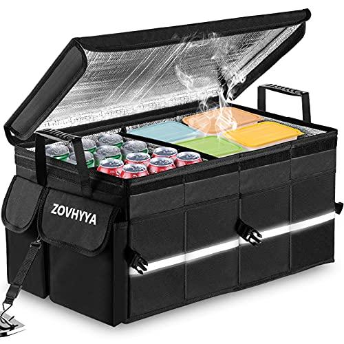 68L Auto Kofferraumtasche Wasserdichte Praktische Kofferraum Organizer Kofferraumtasche mit Dicken Decke und...