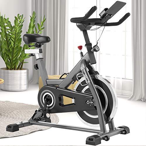ANCHEER Heimtrainer Fahrrad - Indoor Cycling Bike, stationäres Fahrrad mit bequemem Sitzkissen für das...