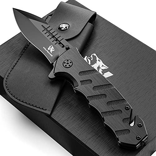 Wolfgangs AUXILUM Rettungsmesser aus 440C Stahl I Survival Outdoor Taschenmesser mit Glasbrecher &...