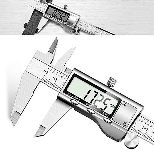 Messschieber Digital - JUNING 150mm Edelstahl elektronische Digital-Messschieber, genaue und schnelle Messung,...