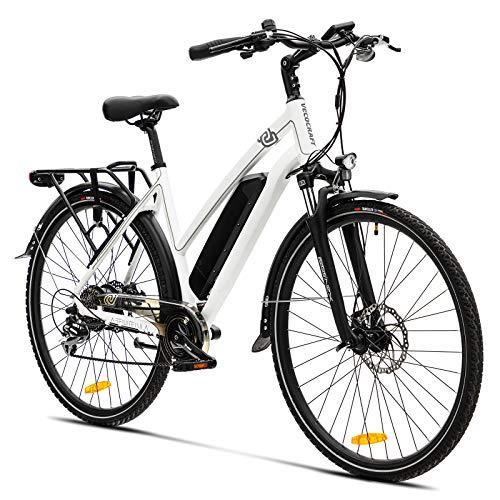 Elektrofahrrad E Bike VecoCraft Athena E-Bike Trekking Pedelec für Damen Herren, 28Zoll Urban Citybike, mit...