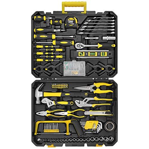 WZG Werkzeug 199-teiliges Haushaltswerkzeugset mit Kunststoffkoffer