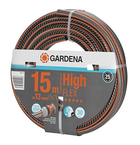 Gardena Comfort HighFLEX Schlauch 13mm (1/2 Zoll), 15 m: Gartenschlauch mit Power-Grip-Profil, 30 bar...