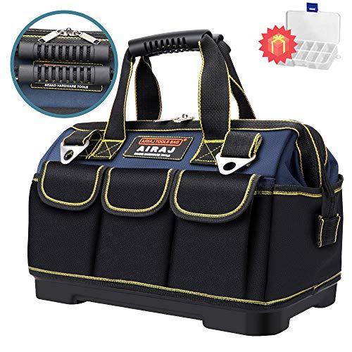 AIRAJ18 Zoll wasserdichte Werkzeugtasche,Weithals Werkzeugtasche große Aufbewahrungstasche,verstellbarer...