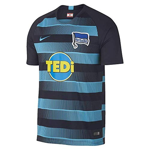 Nike Herren Hertha BSC Breathe Stadium Away T-Shirt, Dark Obsidian/Chlorine Blue, M