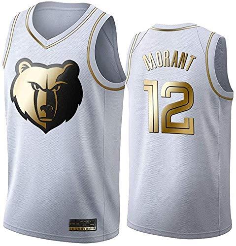 WSUN Herren Basketball NBA Trikot Ja Morant 12# NBA Memphis Grizzlies NBA Unisex Ärmellose Tops...
