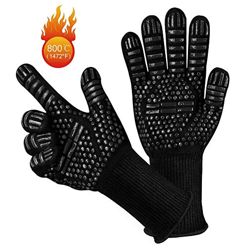 Grillhandschuhe, yotame Ofenhandschuhe Hitzefeste bis zu 1472°F 800°C Kochenhandschuhe Backhandschuhe...