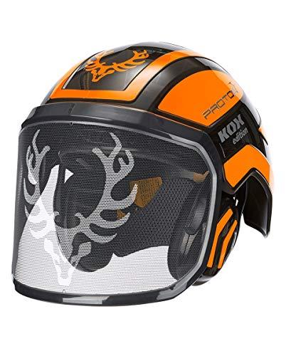 Protos Integral Forest Kopfschutz-Kombination, KOX Edition Schwarz/Orange