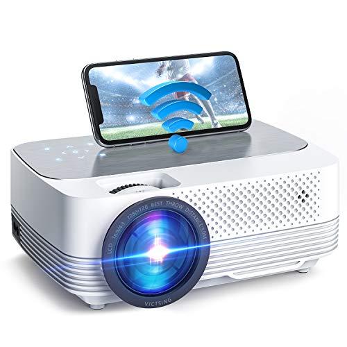 Mini Beamer 6000 Lumen,Native 720P Beamer Full HD, VicTsing WiFi Beamer Heimkino Projektor, Support 1080P Full...