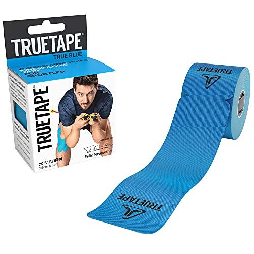 TRUETAPE® Kinesiotapes I vorgeschnitten   wasserfestes & elastisches Kinesiologie Tape   20 Precut-Streifen...