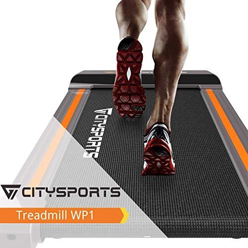 CITYSPORTS Klappbar Laufband, 1-6 km/h elektrisches Laufband, leicht zu bewegen und zu lagern,Büro- /...