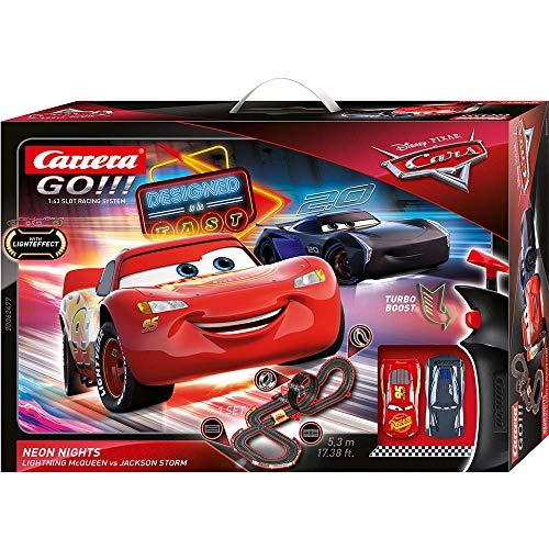 Carrera 20062477 GO!!! Disney Pixar Cars Neon Lights Rennstrecken-Set   5,3m elektrische Carrerabahn mit...
