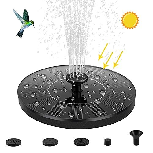 PREUP Solar Springbrunnen, Solar Teichpumpe Garten Wasserpumpe mit 1,4W Monokristalline Solar Panel Brunnen,...