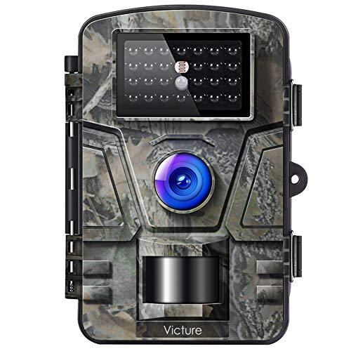 Victure Wildkamera 16MP 1080P Infrarot No Glow LEDs Bewegungsmelder Nachtsicht Jagdkamera, Wildtierkamera mit...