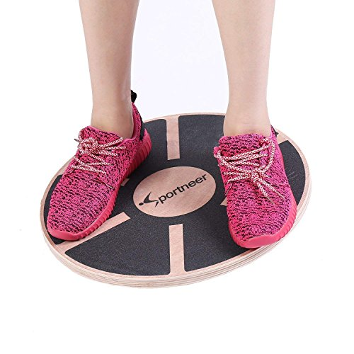Sportneer Wackelbrett Balance Board Holz Durchmesser 40cm Gleichgewicht Board- professionel für die Übung,...