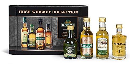 Kilbeggan Irish Whiskey Collection (5cl Greenore Single Grain Whiskey 5cl Kilbeggan Traditional Irish Whiskey...