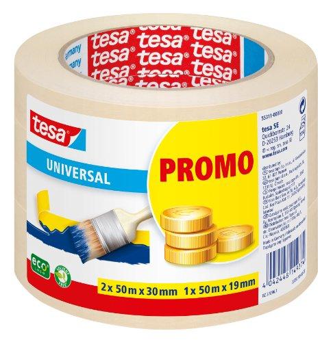 tesa Malerband UNIVERSAL - Vielseitiges Klebeband für Malerarbeiten ohne Lösungsmittel - Bis zu 4 Tage nach...