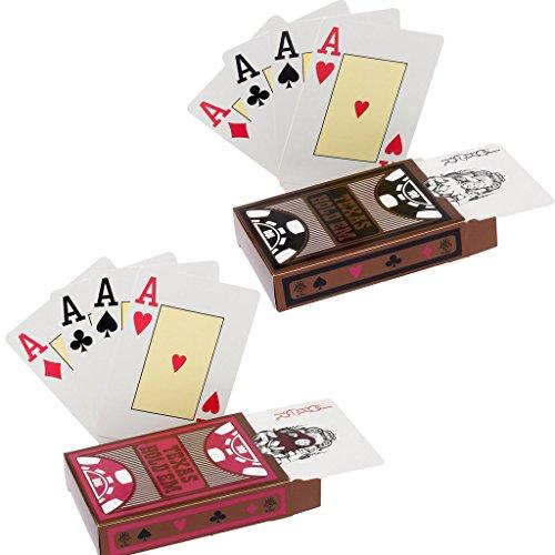 hopewey 2 x Texas Holdem Poker Playing Cards Wasserdichtes Pokerkarten Plastik Spielkarten aus PVC Profi...