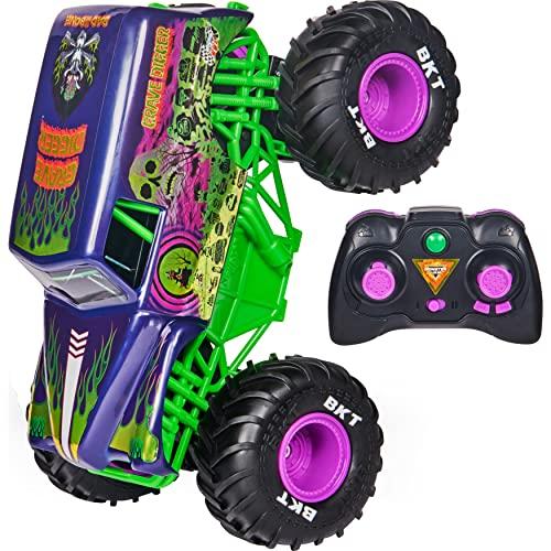 Monster Jam 6060367 MJC RDC GML, Offizielle Grave Digger Freestyle Force, Ferngesteuertes Auto,...