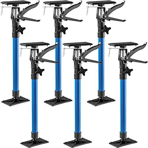 TecTake Türspanner Teleskopstange | stufenlos verstellbar | leichte Handhabung - Diverse Modelle (6er Set...