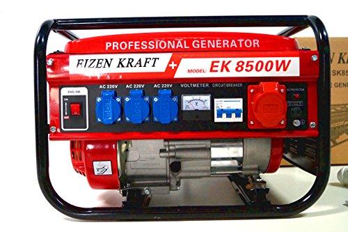KRaftech - Stromgenerator mit 6.000W, Luftkhlung, 6,5HP, 4-Takter, 12, 220, 380V