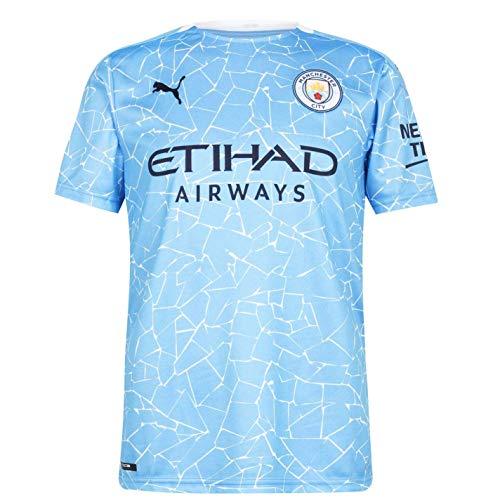 PUMA Herren, Trikot 20/21 Home Manchester City FC Replica with Sponsor Logo T-shirt, Team Light Blue-Peacoat,...