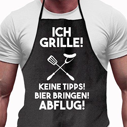 Shirtoo Grillschürze Ich Grille - Lustiges Geschenk für Männer und Grillmeister