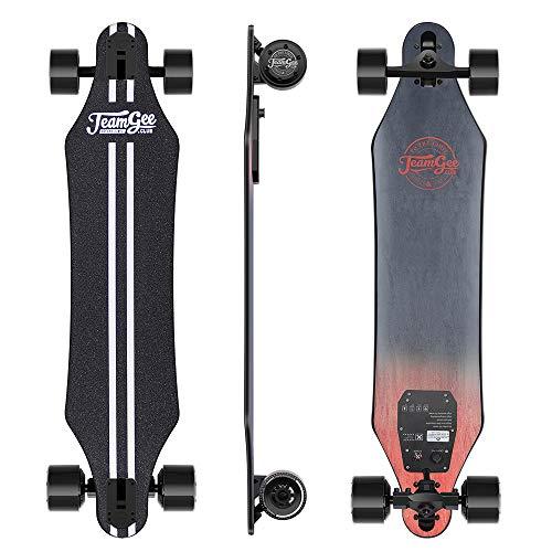 Teamgee H5 - Elektro Longboard Skateboard mit Fernbedienung, Ultra Dünn, Integrierte Akku Dual Motor, bis zu...