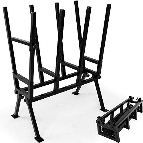 Monzana Sägebock 77x50x105cm 400 kg Belastbarkeit mit Feststellbügel Höhenverstellbar Stahl Holzsägebock...