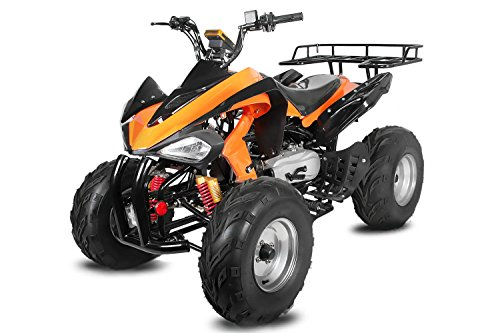 Nitro Motors AKP Carbon 150cc Quad 10' Automatik CVT + Rückwärtsgang Offroad Bike ATV (Rot)