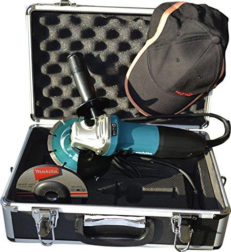 Makita GA5030RSP1 Winkelschleifer 125 mm im Koffer inklusiv Zubehör 720 W, 230 V, türkisschwarz, zuzügl...