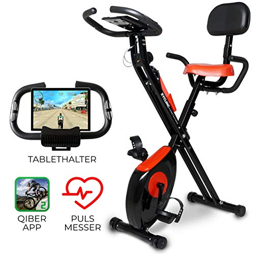 Miweba Sports Indoor Xycling X-Bike Fitnessbike - 3 Kg Schwungmasse - Pulsmessung - 8 Widerstandsstufen - App...