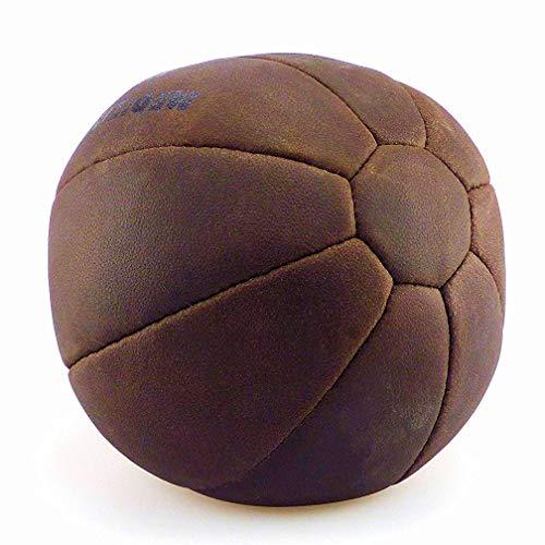 Profi Echtleder Medizinball Medizin Ball 5 kg Vintage Retro Look