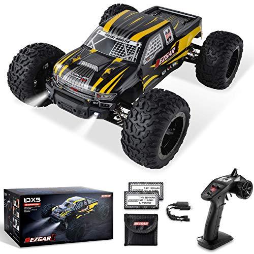 BEZGAR Ferngesteuertes Auto im Maßstab 1:10, 42 km/h All Terrains Elektrisches Spielzeug Offroad RC Monster...